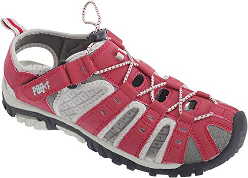 PDQ , Damen Sport- & Outdoor Sandalen, Rot/Grau, 36 EU / 3 UK