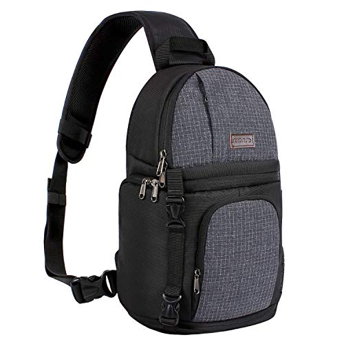 MOSISO Camera Sling Bag, DSLR/SLR/Mirrorless Case Water...