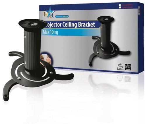 HQ TVS-HQ-PRO01B Beamer-Deckenhalterung für Projektor (Belastbarkeit 10kg)