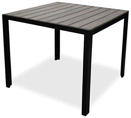 KMH®, Quadratischer Alu-Gartentisch Tuco 90 x 90 cm grau (#106133)