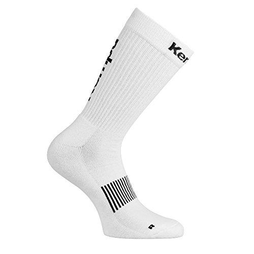 Kempa Logo Classic Herren Socken, weiß/Schwarz, 36-40 (M)