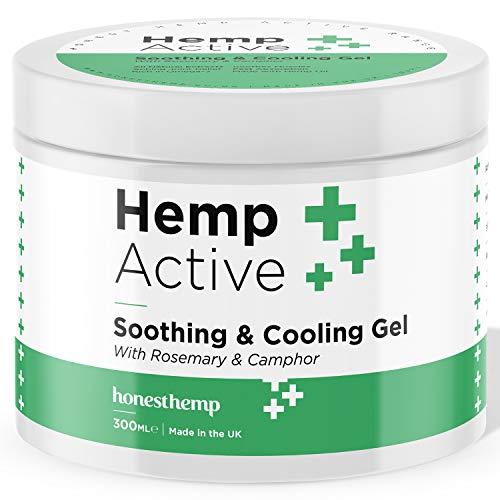 Hemp Gel for Pain Relief by Honest Hemp - Hemp Muscle & Joint Cream - 300ml Active Relief Gel with Hemp Oil Helps Soothe Shoulders, Knees, Back & Feet (300ml)