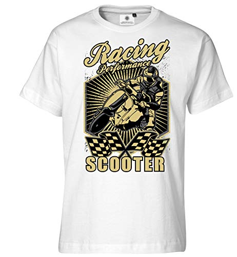 Aangepaste door S.O.S. T-shirt voor heren Vespa Scooter Racing