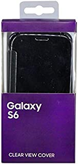 Clear View Cover for Samsung Galaxy S6 - Black
