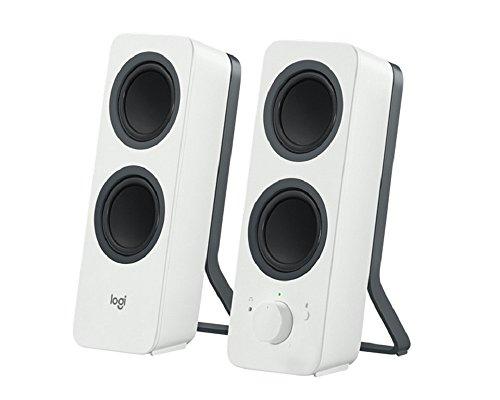 Logitech Z207 Kabellose PC-Lautsprecher, Bluetooth, Stereo Sound, 10 Watt Spitzenleistung, 3,5 mm Eingang, Kopfhörerbuchse, Easy-Switch Feature, UK Stecker, PC/TV/Tablet/Handy - weiß