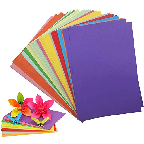 Construction Paper Pack, 200Sheets Heavy Duty Construction Paper Color Copy Paper for Crafts & Art, A4, 10 Assorted Colors