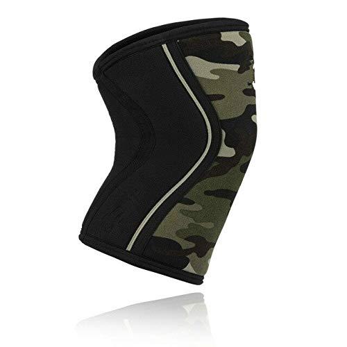 Rodillas de musculación para Ejercicios de Levantamiento de Pesas de 7 mm con Rodilleras (par) Rodilleras - Ejercito Verde-1, XL