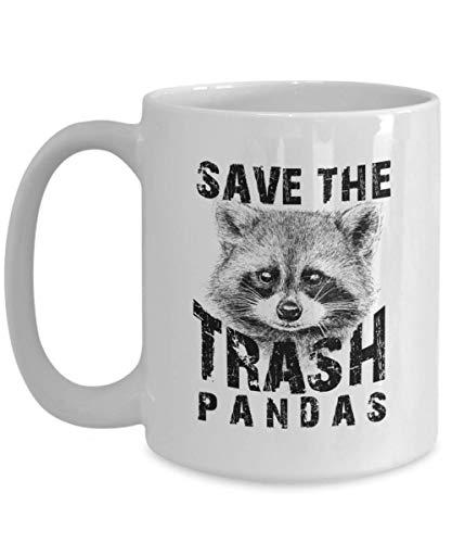 Egoa Ceramic Mug Dierliefhebber Rette Die Vüll Panda's beste wasberen wasberen dieren liefde keramische mok noviteit porseleinen mok thee 330 ml houdbaar geschenk grappig verjaardagsmode-J