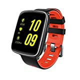 PRIXTON Smartwatch Bluetooth Impermeabile IP68 Due Cinturini compresi, Cardiofrequenzimetro da Polso per Android e iOS | 1.54 Pollici Touch Screen | SWB25