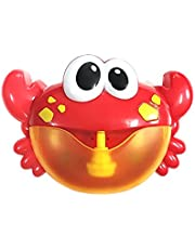 Festnight Funny Bath Bubble Maker Children Automated Spout Crab Bath Toy Cute Bubble Making Machine Educational Water Toys for Boys & Gilrs