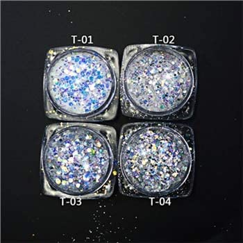 Gabcus 1 Dedication Bottle Mixed Color Hexagon Glitter Laser Art Slice A surprise price is realized Nail