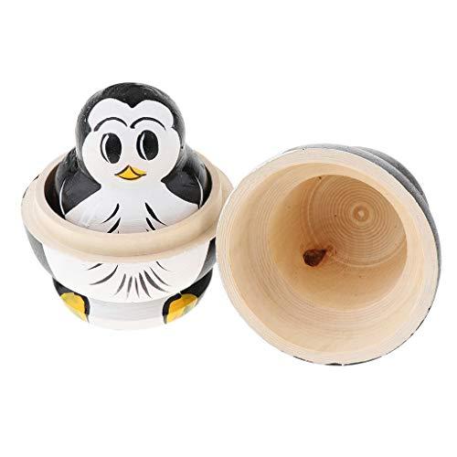 10 pcs Handbemalt Russische Babushka Matryoshka Puppen Holzspielzeug Dekoration - Pinguin