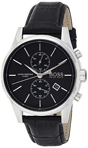 Hugo Boss 1513279 - Orologio da uomo con movimento al quarzo, funzione di cronografo e cinturino in pelle