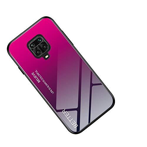 WINMI für Motorola Moto G9 Hülle,Ultra Thin TPU Silikon Grenze Shock Stylisch Schutzhülle,Farbverlauf-Glas Back Cover Handyhülle für Motorola Moto G9-MH