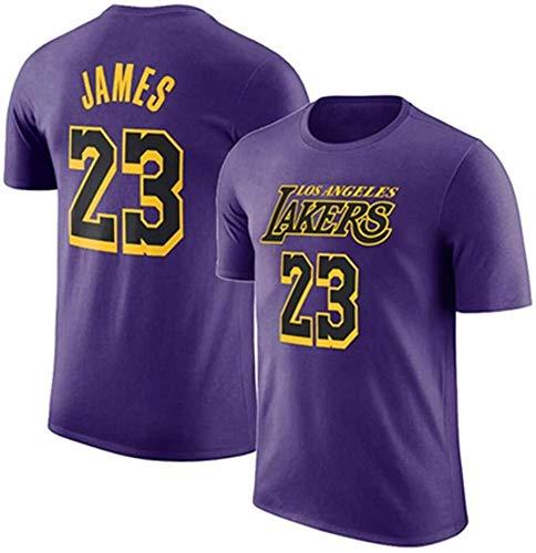 Jersey De Hombre NBA Los Angeles Lakers de manga corta camiseta informal de baloncesto deportes de los hombres floja versión deportiva LeBron James, Kobe Bryant Nº 23 Nº 8 No.24 Número de manga corta