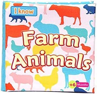 كتاب قماش للرضع - حيوانات المزرعة (انجليزي)