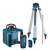 Bosch GRL250HVCK-B-RT Dual-Axis Self-Leveling Rotary Laser Kit with Tripod (Certified Refurbished)