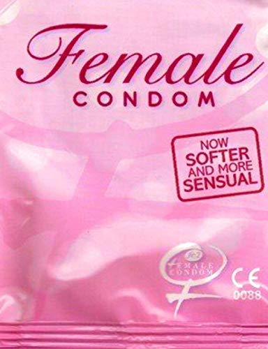 FC2 Pink Package Sensitive Female Condoms~Latex-free- 6 Bulk Condoms with Directions
