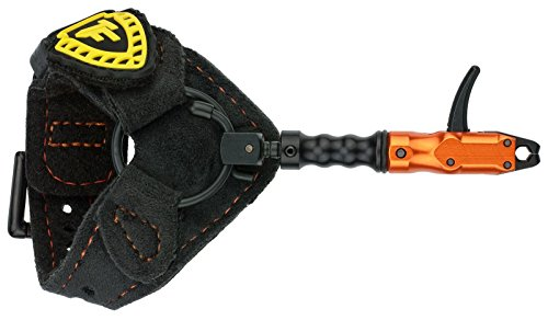 TruFire Spark Youth Buckle Foldback Archery Bow Release - Adjustable Black Strap for Smaller Wrists