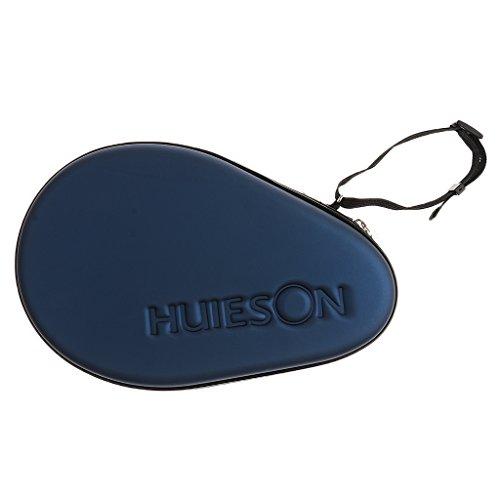 lahomia Raqueta de Tenis de de Calidad Impermeable Estuche Rígido Cubierta de Bolsa de Paleta de Pong - Azul Oscuro