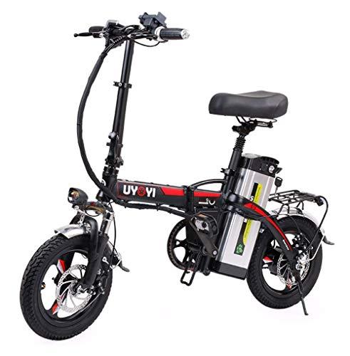 BIKE Electric Bicycle, Folding Ebike - 48V 400W Motor 14 Inch, Remote Control, Removable Battery 120Km,90Km