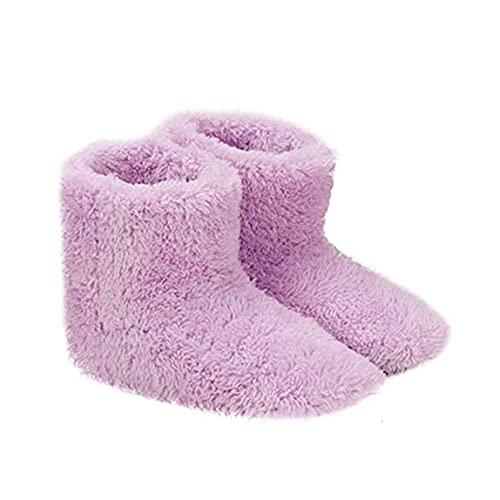 Hotaden Climatizada Zapatillas Calientes USB Calefacción Zapatillas de Invierno Plantillas de Calentamiento para Buena Noche de sueño 5V Calentador Muebles de jardín