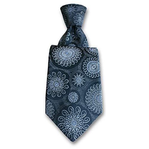 Robert Charles. Cravate. Astoria, Soie. Bleu, Paisley. Fabriqué en Italie.