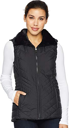The North Face Women's Mossbud Insulated Revesible Vest - TNF Black - L
