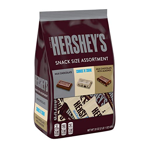 HERSHEY'S Assorted Snack Size Candy, Valentine's Day, 33 Oz. Bag