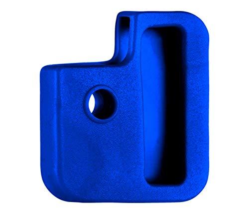 van den Heuvel - Blaue Schlüsselkappen (10 Stück) für eckige Schlüssel (24mm x 28mm) mit mehreren Aussparungen
