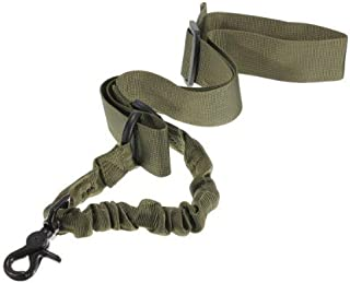 OneTigris 2 Punkt Gewehr Sling 1000D Nylon Verstellbarer Gewehrgurt Bungee Sling f/ür Airsoft Wargame Painball Jagd Camping Sport 110-170CM//Nylongewebe, Schwarz