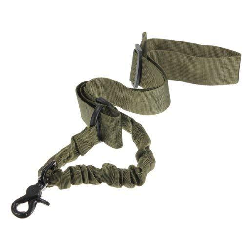 DESERTHAWK TACTICAL Waffengurt Gewehrgurt multifunktional Taktischer Bungee Sling 1 und 2 Punkt (1 Punkt Oliv)