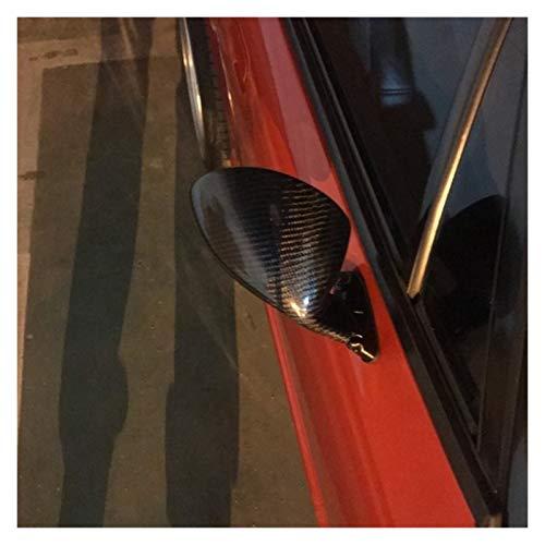 zhuzhu Fibra De Carbono Clásico Retro Puerta De ala Espejo Retrovisor Espejo De Estilo De California Accesorios De Coche (Color : Carbon Fiber Pattern)