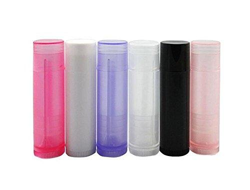 10 Stück leere 5 g 5 ml wiederbefüllbare Kunststoff rund DIY Lippenstift Lip Balm Lip Gloss Tubes Halter Behälter Crayon Chapstick Deo Tube Pipe Flasche Fall Farbe zufällig