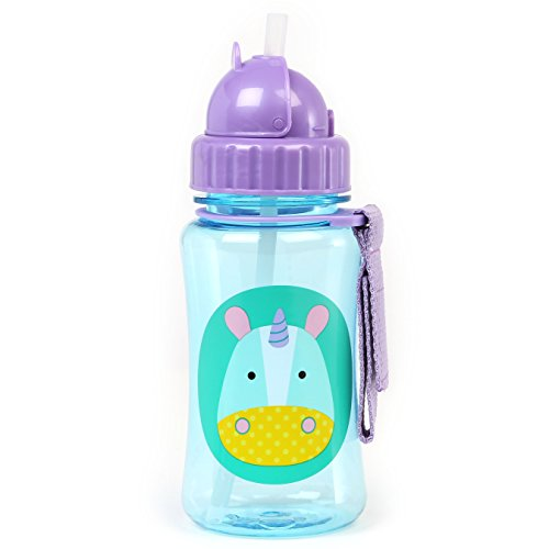 Skip Hop Zoo Unicorn - Botella con pajita de recambio