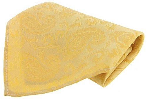 David Van Hagen Jaune mouchoir de Grand Paisley Silk de