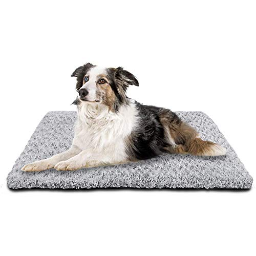 SIWA MARY Dog Bed Crate Pad Mat 30/36/42 in Anti Slip Washable Mattress Pets Kennel Pad for Large Medium Small Dogs Sleeping (36-inch,Grey)