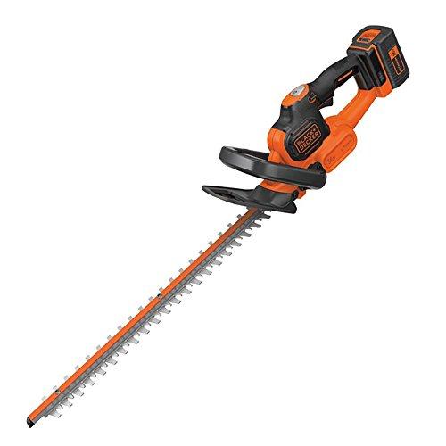 BLACK+DECKER GTC36552PC-QW Taille-haies sans fil - Ecartement : 22 mm - Chargeur 1h50 - Technologie anti-blocage, 36V, Noir, Orange, 55 cm