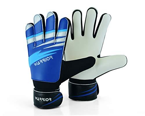 WARRIOR – Guantes de portero de fútbol para niños y adultos, guantes de portero de fútbol de protección de palmas súper agarre (3 – Apto para 5 – 6 años)