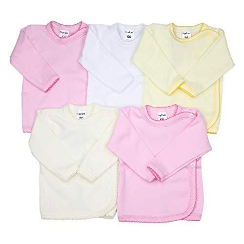 TupTam Unisex Baby Wickelshirt Langarm Baumwolle 5er Pack, Farbe: Mädchen, Größe: 62