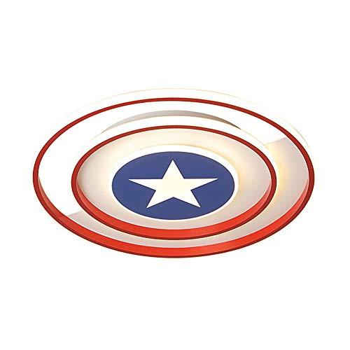 LED Deckenleuchte Captain America Decor Leuchte Mit Fernbedienung dimmbar Moderne Acryllampe Wohnzimmer Schlafzimmer Esszimmer Arbeitszimmer Junge Mädchen Kinderzimmer Lampe,38WØ40CM
