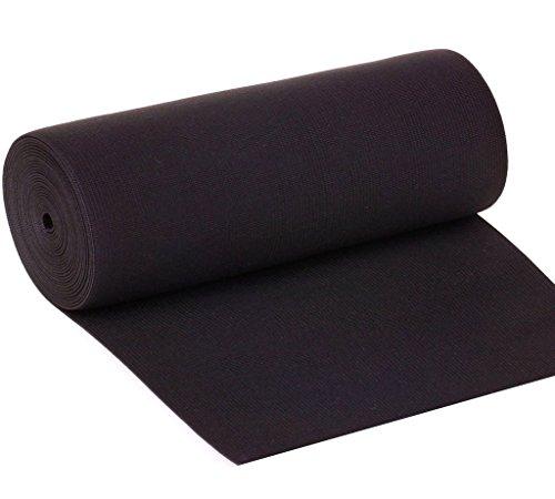 Gourd 8-inch Black Knit Heavy Stretch High Elasticity Elastic Band 1 Yard