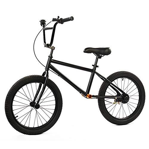 Bicicleta sin pedales Bici Bicicleta de Equilibrio para Adultos con Freno de Mano y Llantas Neumáticas de 50 cm (20 Pulgadas), Bicicletas Negras Sin Pedal para Niños Grandes/Adolescentes