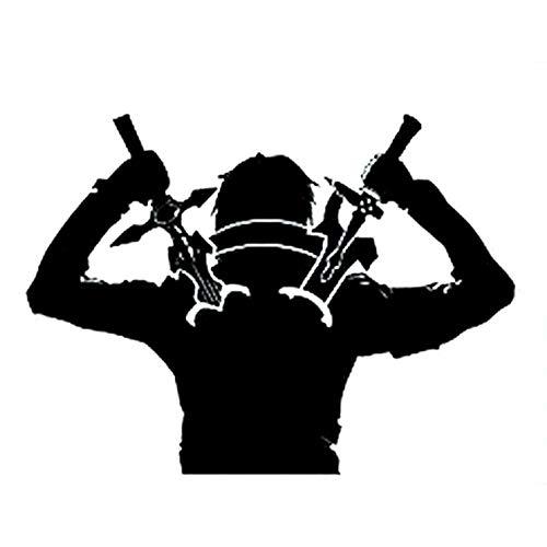 luyiwzd Autoaufkleber Laptop Aufkleber Car Sticker Vinyl Aufkleber Anime Ninja Warrior Schwerter Interessantes Auto-Styling Auto Aufkleber 15.9Cmx11.8Cm -Schwarz
