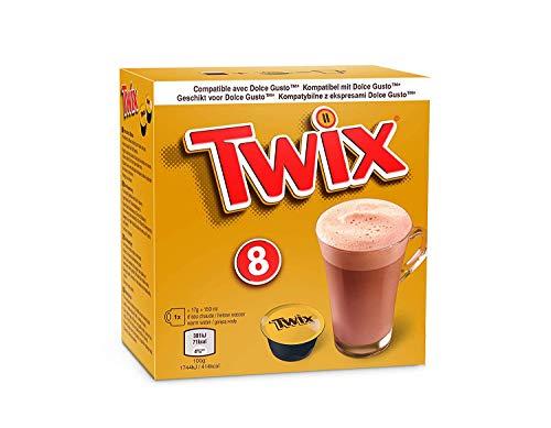 Twix/ Mars® Trinkschokolade - Kompatibel mit Dolce Gusto® (Twix, 10 Packungen - 80 Kapseln)