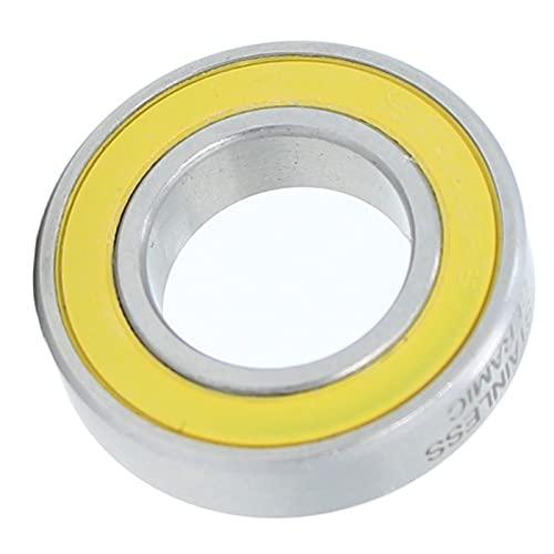 kengbi Ampliamente uso rodamientos 6902-2RS rodamientos inoxidables 15x28x7 mm 1PC ABEC-3 6902 RS para DTSwiss 350 Buje de bicicleta eje delantero trasero rueda rodamientos de bolas de cerámica