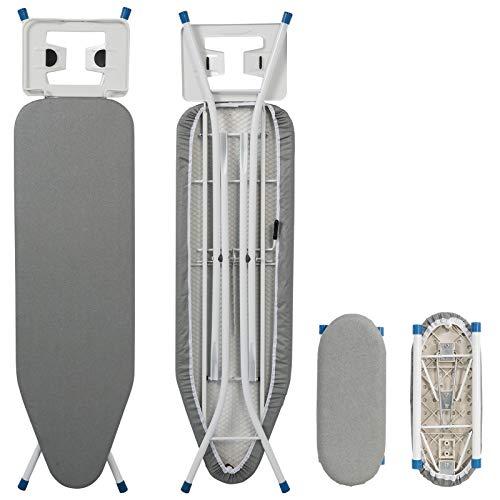 WOLTU BGT04gr Bügeltisch Bügelbrett für Dampfbügeleisen mit Ärmelbrett Grau 110 x 30 cm