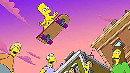 Fanxp Cartoon Simpson Skateboarding Holzpuzzle 1000 Teile, Lustige Puzzles, Bildung Zusammengesetzt Puzzle Holzpuzzlespiel