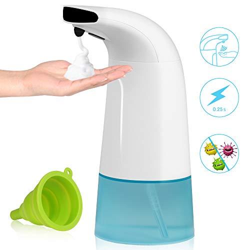 Dispenser di Sapone Automatico, 280ml Distributore di Sapone Schiumogeno Erogatore di Sapone Touchless con Sensore di Infrarossi per Cucina Bagno e WC, Shampoo Sapone Liquido di Emulsione