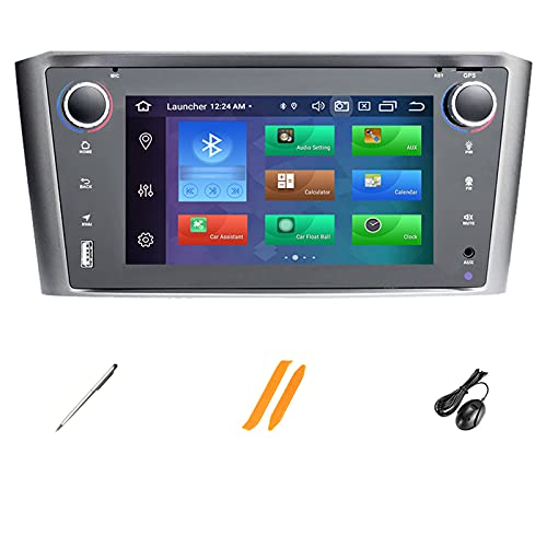 HAZYJT Doble DIN Android 10.0 7 Pulgadas Radio Coche Pantalla Táctil Car Navigation Compatible con To-yota Avensis T25 2002-2008 4g/WiFi/GPS/Bluetooth/RDS/USB/FM